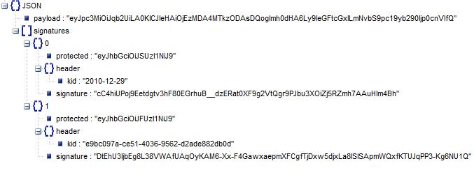 JWS JSON Serialization form