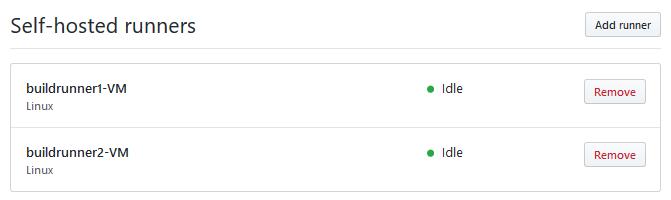 Adding self hosted runner.