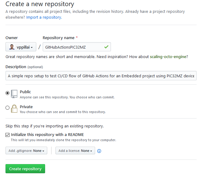 Create a repo to host your project