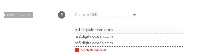enter custom nameservers in namecheap portal