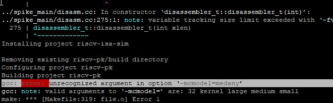 riscv-tools build error