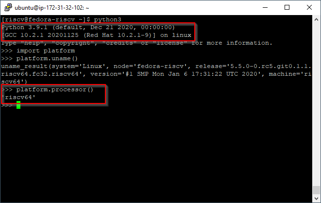 Python3 on RISC-V + Linux
